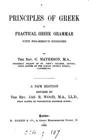 Cover of: Principles of Greek, revised by J.R. Wood