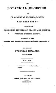 Cover of: The Botanical Register Vol. XIV | Sydenham Edwards