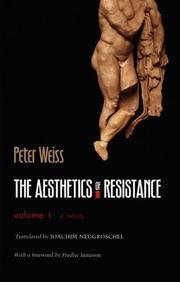 Cover of: The Aesthetics of Resistance, Volume 1