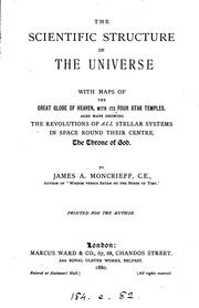 Cover of: The scientific structure of the universe
