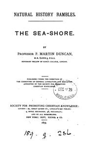 Cover of: The sea-shore | Peter Martin Duncan