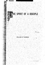 Cover of: The spirit of a disciple