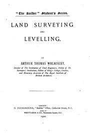 Cover of: Land Surveying and Levelling