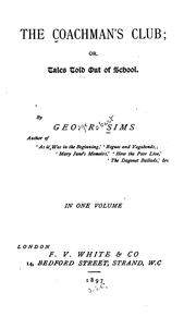 Cover of: The Coachman's Club, Or, Tales Told Out of School