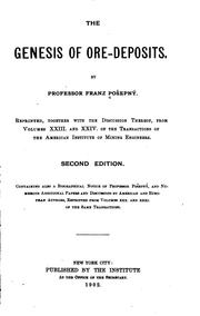 The genesis of ore-deposits by František Pošepný