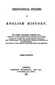 Cover of: Chronological Outlines of English History | John Charles Curtis