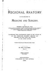 Cover of: Regional Anatomy in Its Relation to Medicine and Surgery