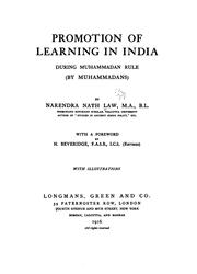 Cover of: Promotion of Learning in India During Muhammadan Rule