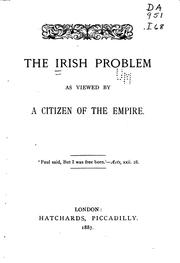 Cover of: The Irish Problem