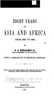 Cover of: Eight years in Asia and Africa from 1846-1855