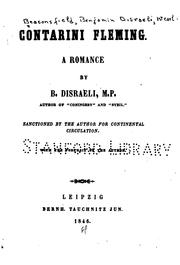 Cover of: Contarini Fleming: A Romance