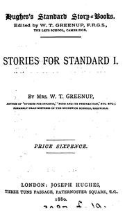 Cover of: Stories for standard i (-vi)
