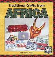 Cover of: Traditional crafts from Africa | Florence Temko