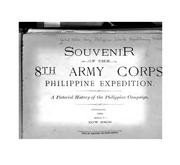 Cover of: Souvenir of the 8th Army Corps Philippine Expedition: A Pictorial History of the Philippine Campaign