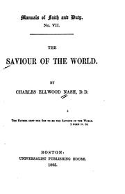 Cover of: The Saviour of the World