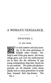 Cover of: A woman's vengeance, by the author of 'Cecil's tryst'