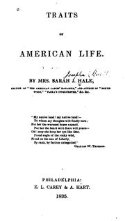 Cover of: Traits of American life