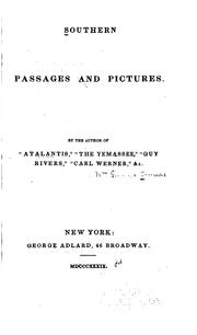 Cover of: Southern Passages and Pictures