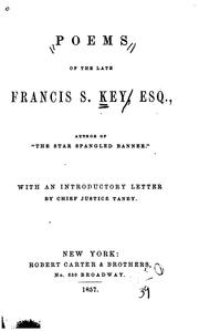 Cover of: Poems of the late Francis S. Key