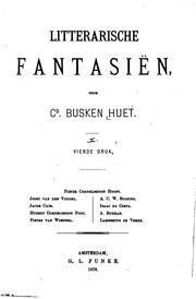 Cover of: Litterarische fantasiën