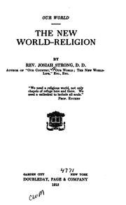 Cover of: The New World-religion | Josiah Strong