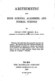 Cover of: Arithmetic for High Schools, Academies, and Normal Schools