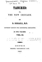 Cover of: Tancred, or, The new crusade