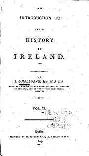 Cover of: An Introduction to and an History of Ireland