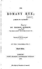 "Cover of: The Romany Rye: A Sequel to ""Lavengro."""