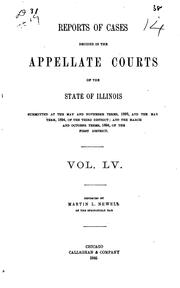 Cover of: Reports of Cases Decided in the Appellate Courts of the State of Illinois | Illinois Appellate Court