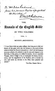 Cover of: The Annals of the English Bible