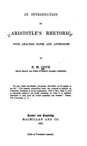 Cover of: An Introduction to Aristotle