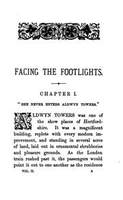 Cover of: Facing the footlights: A Novel