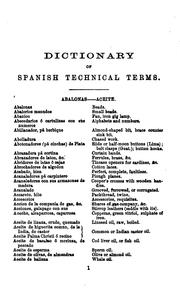 Cover of: Pocket dictionary of Spanish technical terms