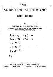 Cover of: The Anderson Arithmetic
