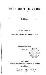 Cover of: Wide of the mark, by the author of