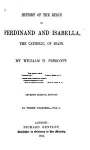 Cover of: History of the reign of Ferdinand and Isabella, the Catholic, of Spain