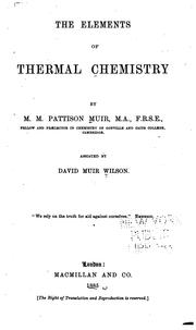Cover of: The Elements of Thermal Chemistry