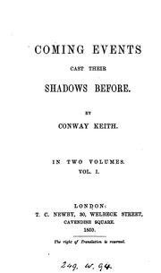 Cover of: Coming events cast their shadows before