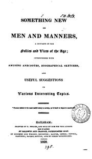 Cover of: Something new on men and manners [by L. Hake.]. | Lucy Hake