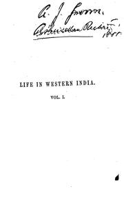 Cover of: Life in Western India