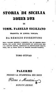 Cover of: Storia di Sicilia, Deche due: Tradotte in Lingua Toscana