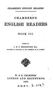 Cover of: Chambers's English readers, ed. by J.M.D. Meiklejohn