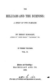Cover of: The Hillyars and the Burtons: A Story of Two Families
