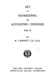Cover of: Bookkeeping and Accounting Exercises ..