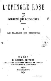 Cover of: L'épingle rose