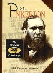 Cover of: Allan Pinkerton: the original private eye