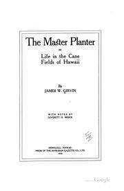 Cover of: The Master Planter