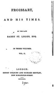 Cover of: Froissart and his times [ed. by S.B.]