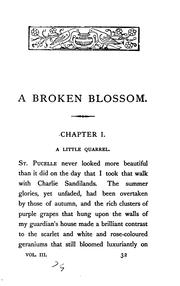 Cover of: A broken blossom: a novel